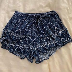 soft, flowy patterned shorts